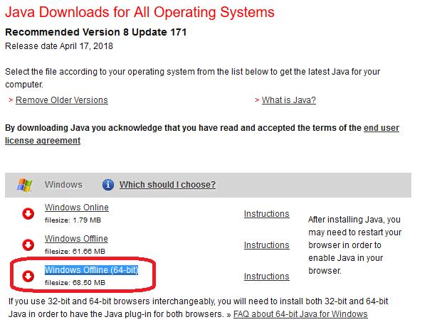 COBISS SI - priporočena oprema - Java - Windows